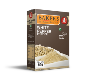 White Pepper Powder 50g, 100g Box & 250g Pouch